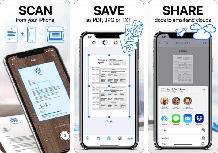 Scanner App Document Scanning iPhone and iPad App Screenshot