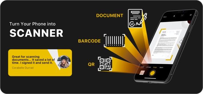 Scanner Unlimited Document Scanning iPhone App Screenshot