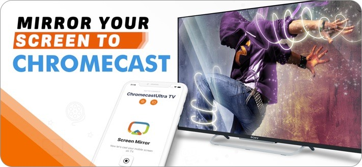 Screen Mirror for Chromecast iPhone and iPad App Screenshot