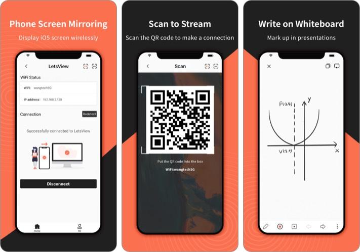 Screen Mirroring - LetsView iPhone and iPad App Screenshot