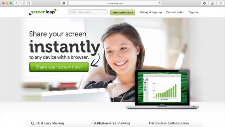 Screenleap Mac Screensharing App