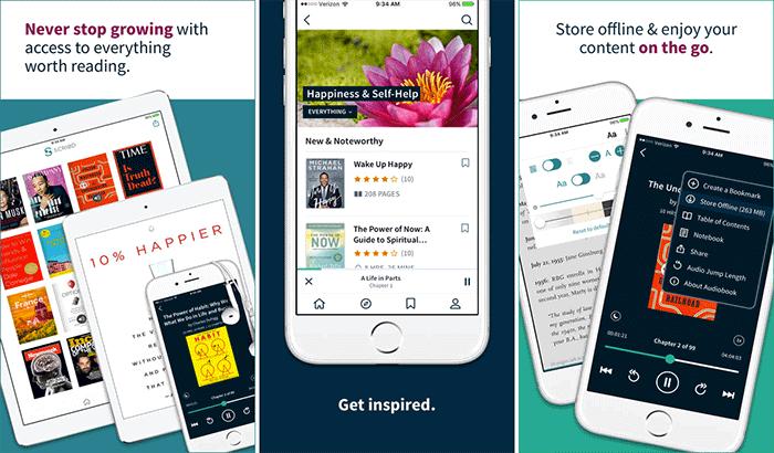 Scribd Audio Books iPhone and App Screenshot