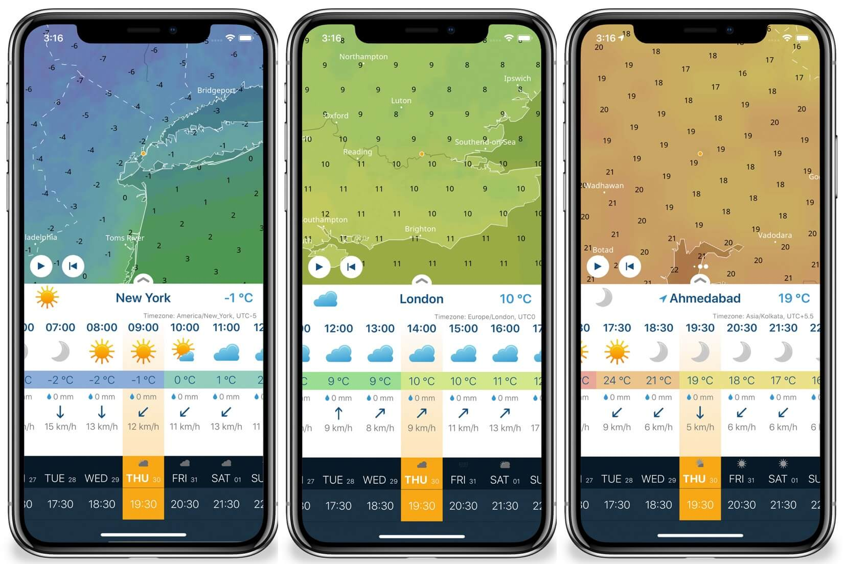 Search Multiple Cities Weather on Ventusky iPhone App