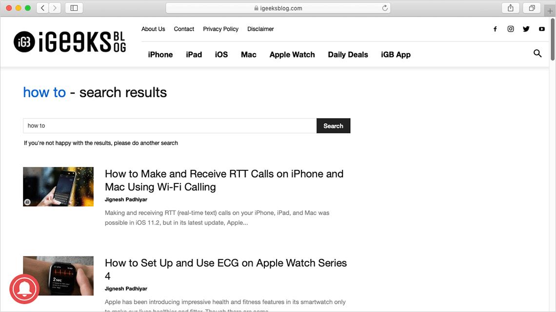 Search Website in Safari on Mac