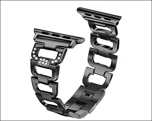 SICCIDEN Magnetic Clasp Stainless Steel Band for Apple Watch Series 4