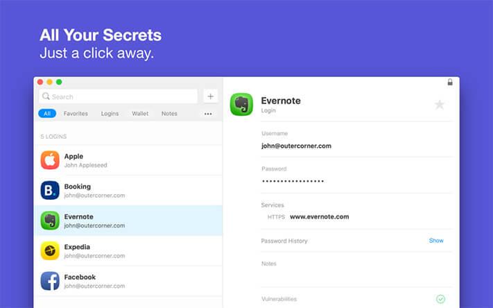 Secrets Mac Password Manager App