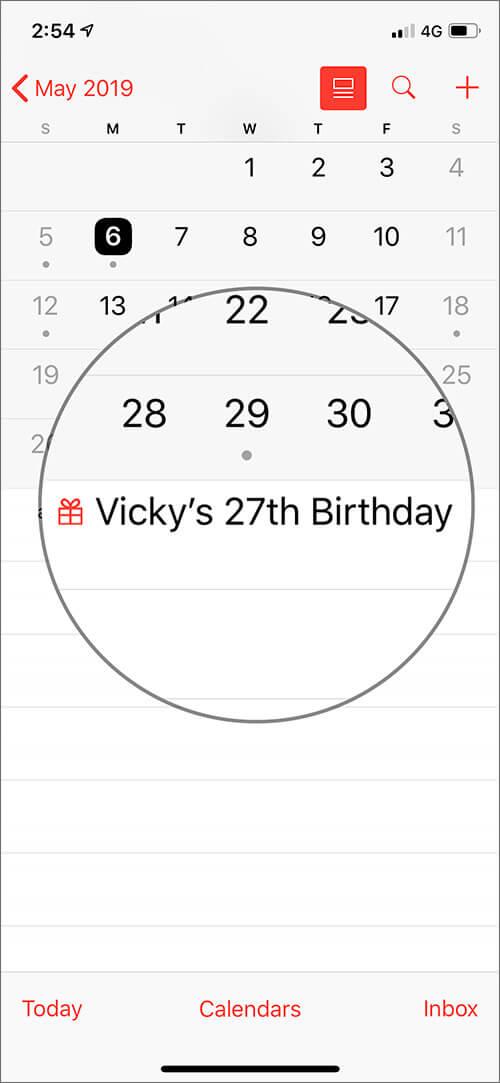 See Birthdays in Apple Calendar on iPhone or iPad