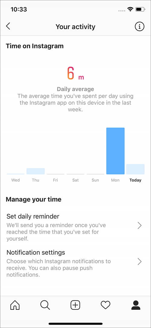See How Much Time You Spend in Instagram on iPhone