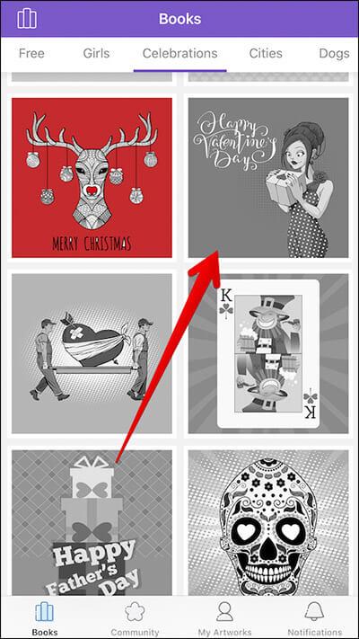 Select Artwork in Colorgram iPhone App