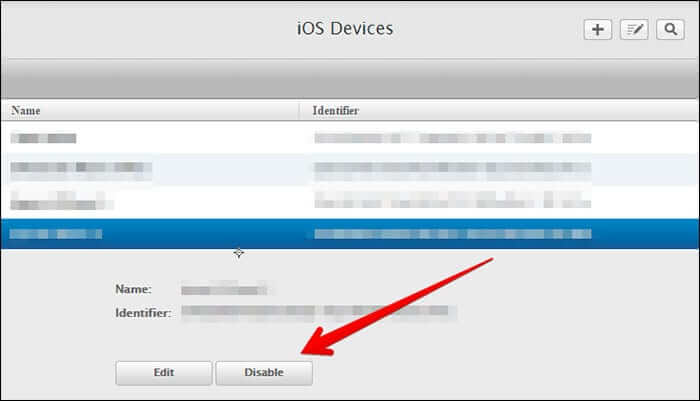 Select Device and Click on Disable