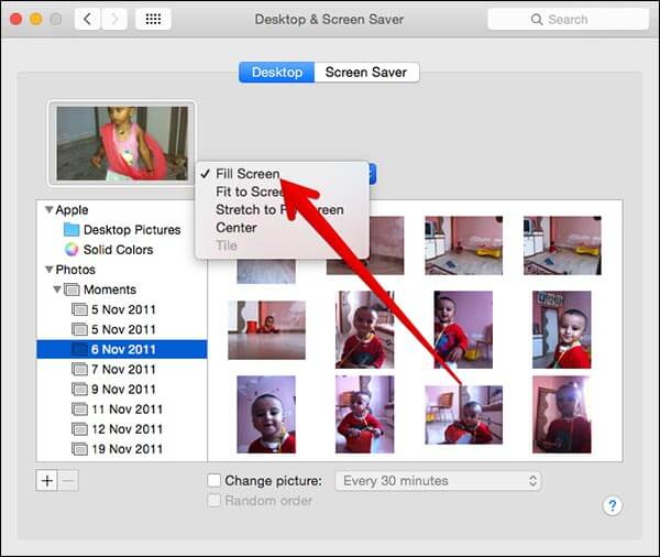 Select How Photos Should Display on Mac Wallpaper