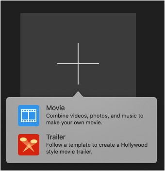 Select Movie or trailer from iMovie on Mac