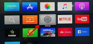 Select Settings on Apple TV
