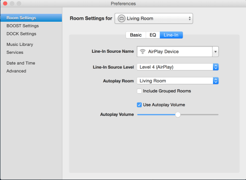 Select the Room that will Automatically Start Playback