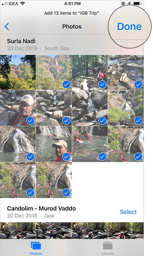 Select the Specific Photos to Make Custom Memories on iPhone and iPad