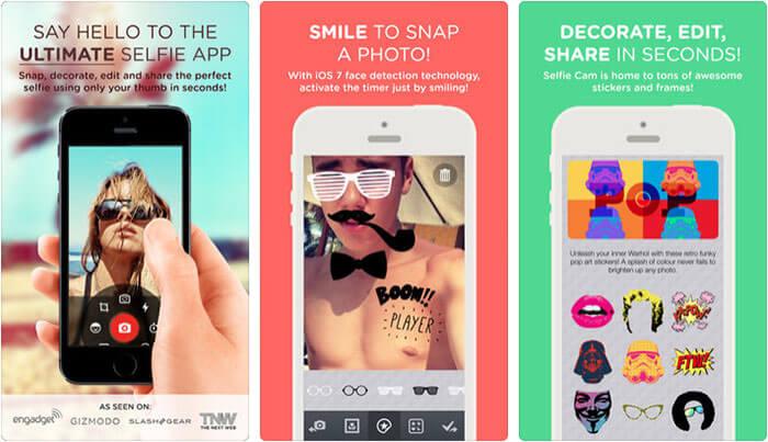 Selfie Cam iPhone App Screenshot