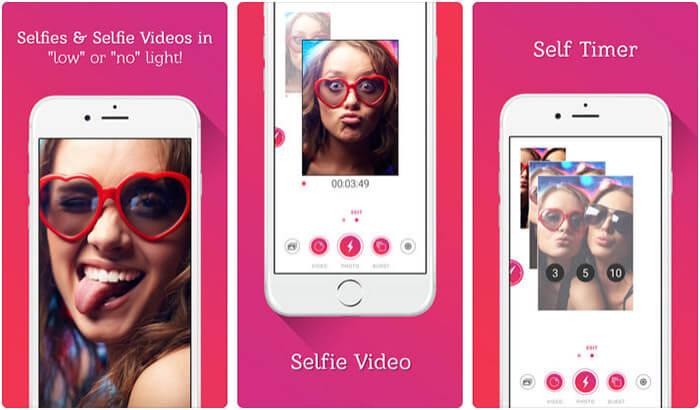 Selfshot Front Flash Camera iPhone and iPad App Screenshot
