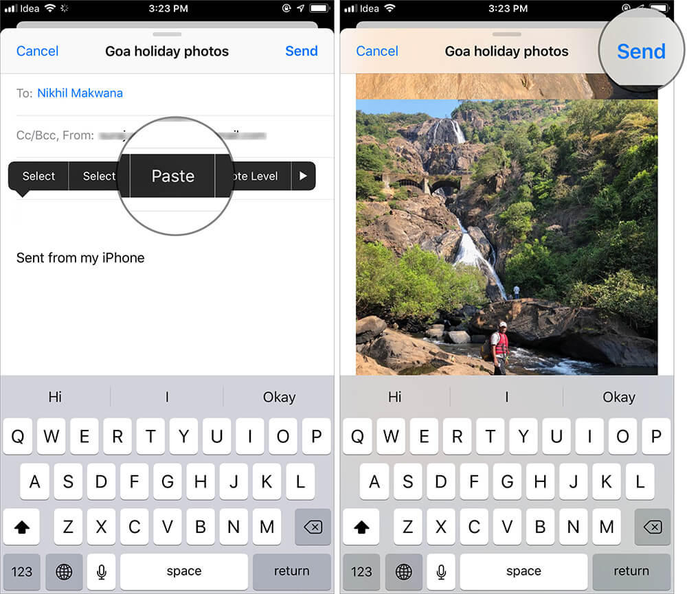 Send More than 20 Pictures Via Email on iPhone
