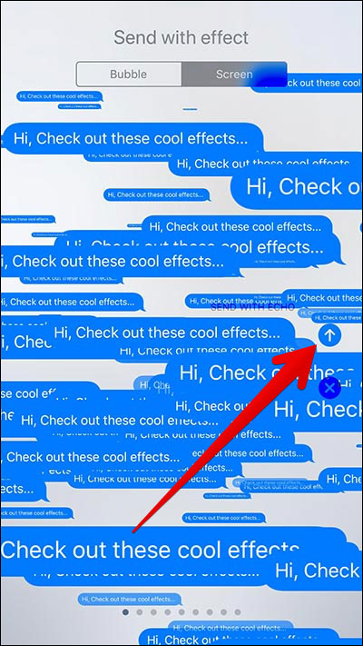 Send iMessage with Echo Effect in iOS 11 on iPhone