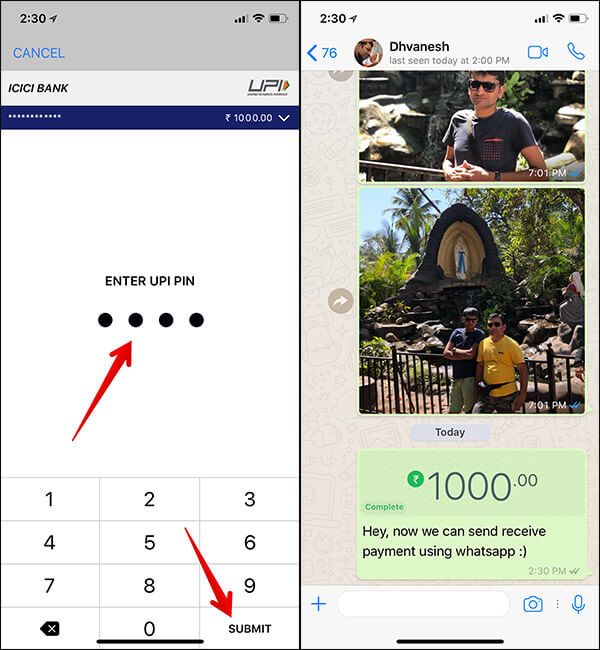 Send or Receive Cash using WhatsApp on iPhone or Android