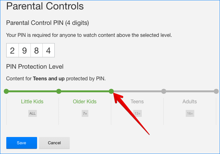 Set Account Level Parental Controls for Netflix Account