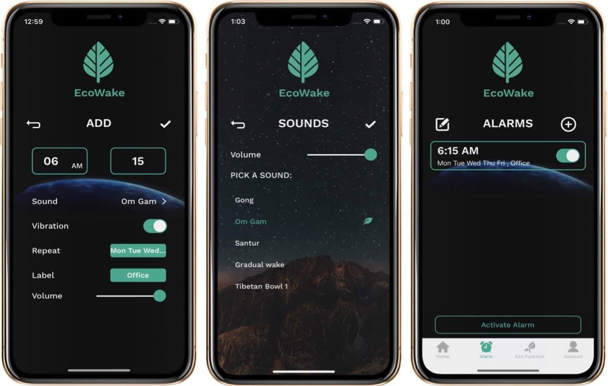Set Alarm in EcoWake iPhone App
