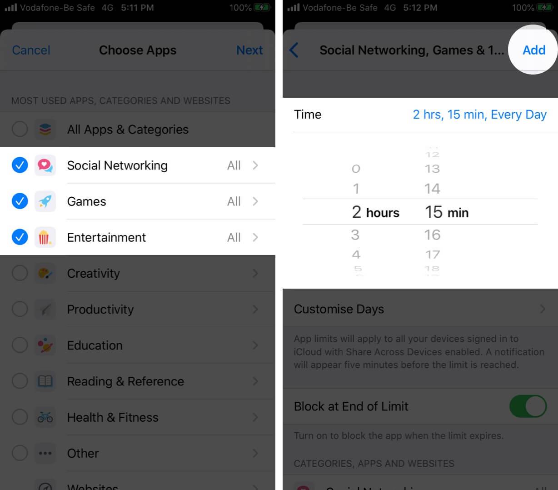 Set App Limits on iPhone