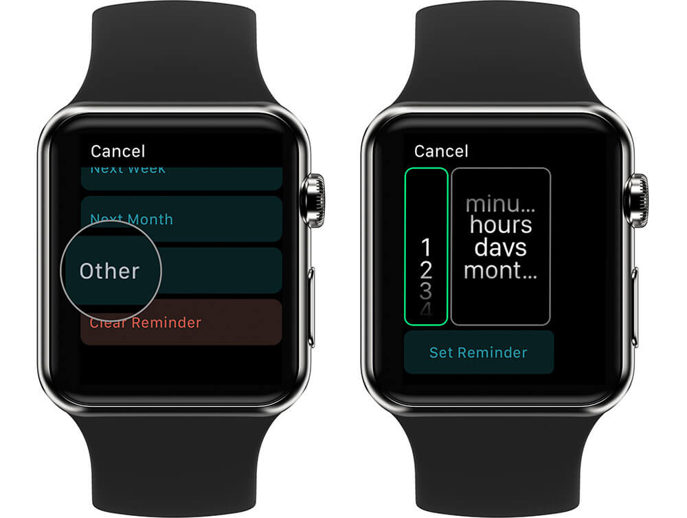 Set Auto Reminder Time in Evernote on Apple Watch