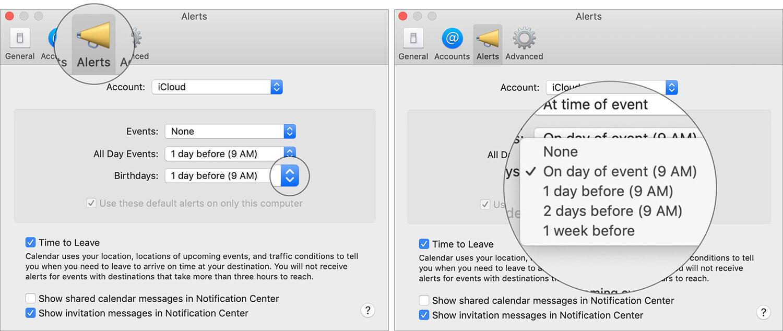 Set Birthday Alerts on Mac Calendar