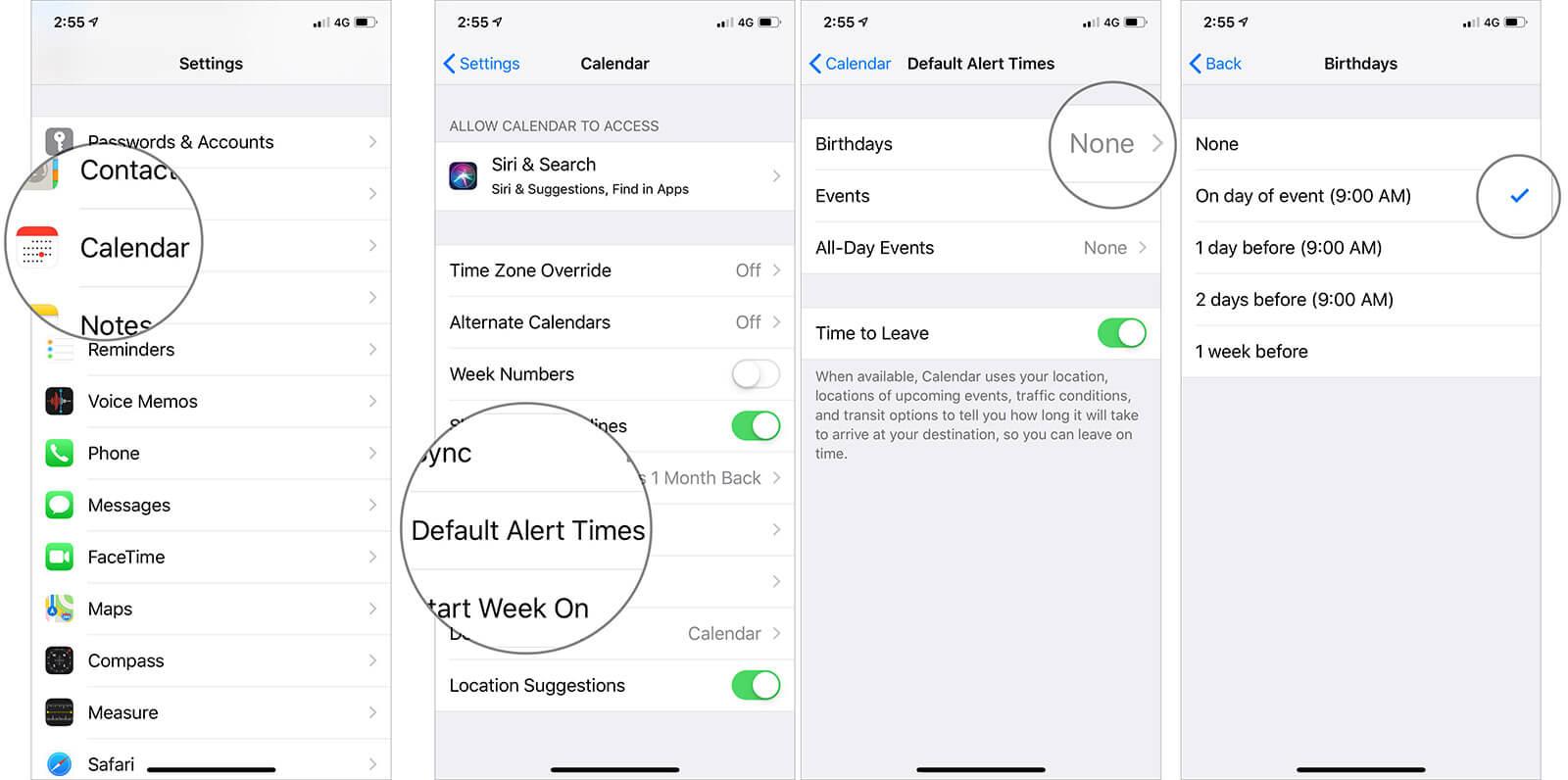 Set Birthday Alerts on iPhone Calendar