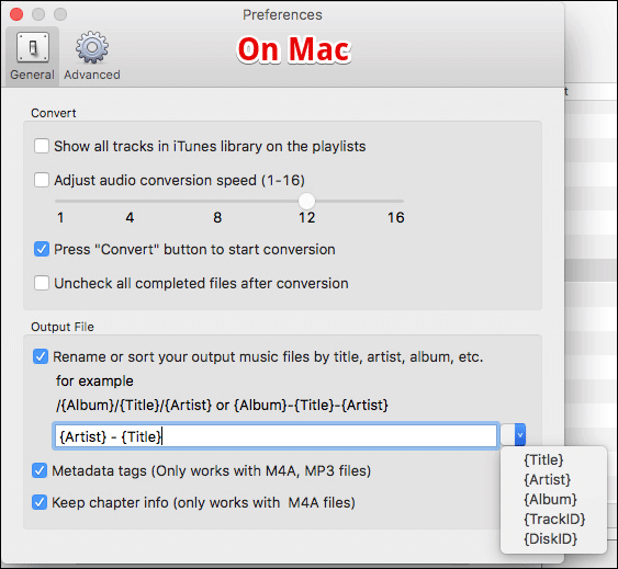 Set Metadata for Track in TuneMobie on Mac