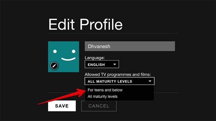 Set Profile Level Parental Controls in Netflix