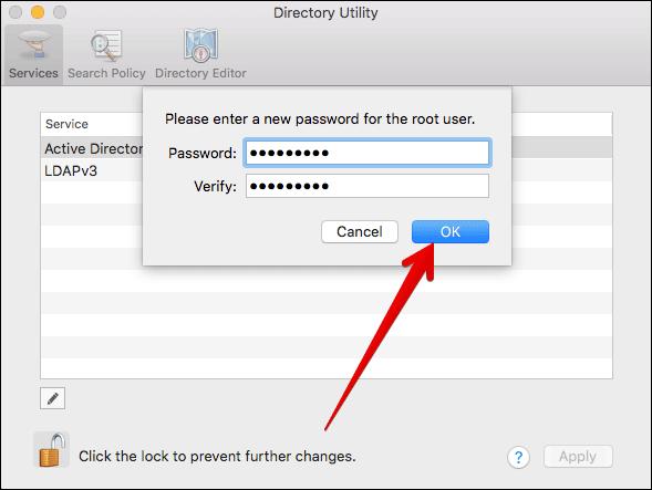 Set Root User Password on Mac