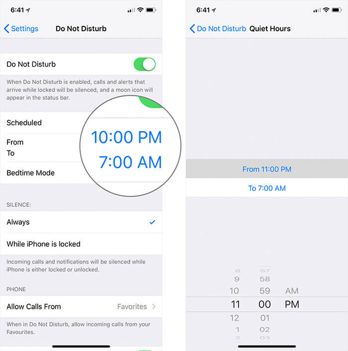 Set Up Bedtime Mode in iOS 12 on iPhone