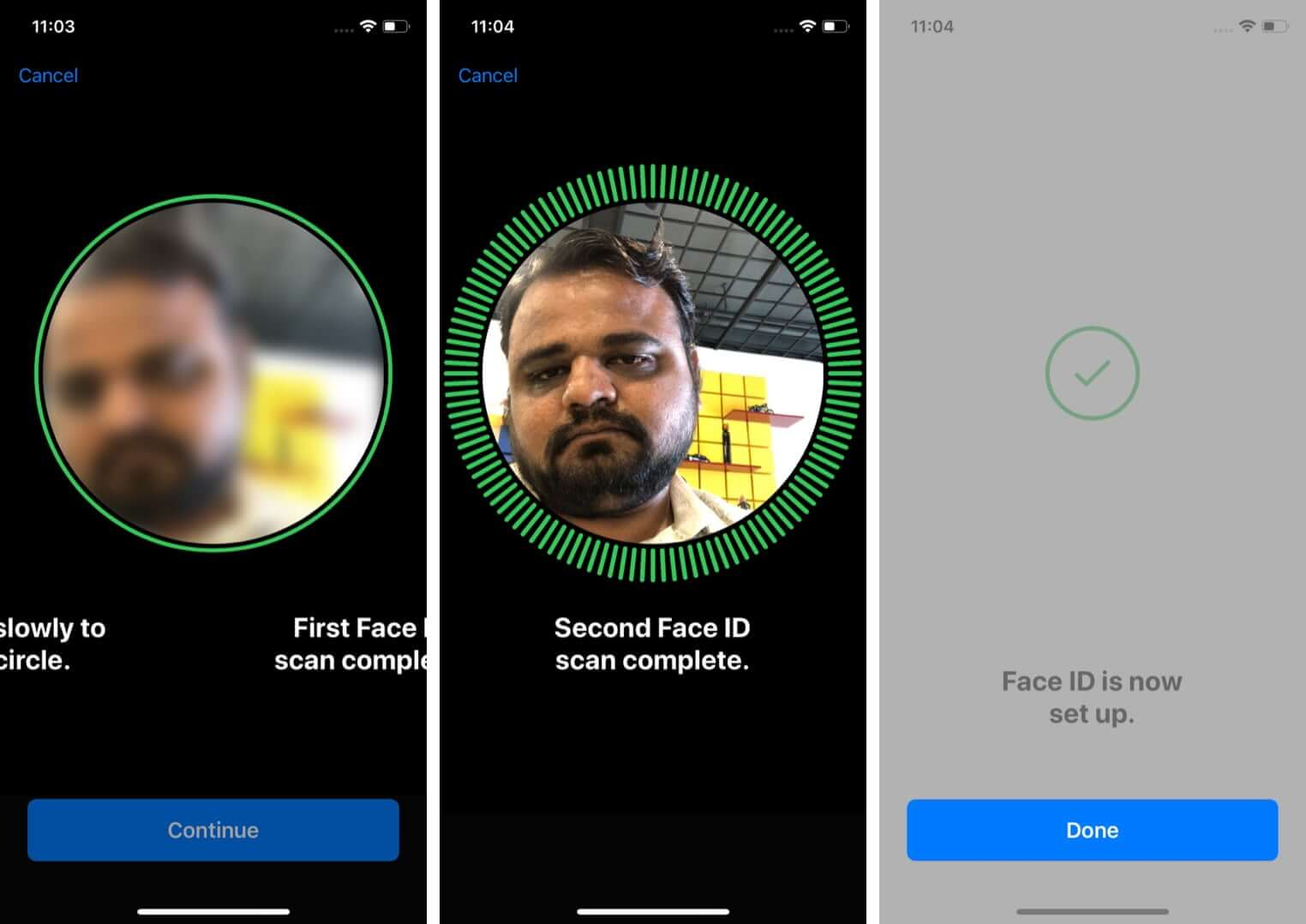 Set Up Face ID on iPhone