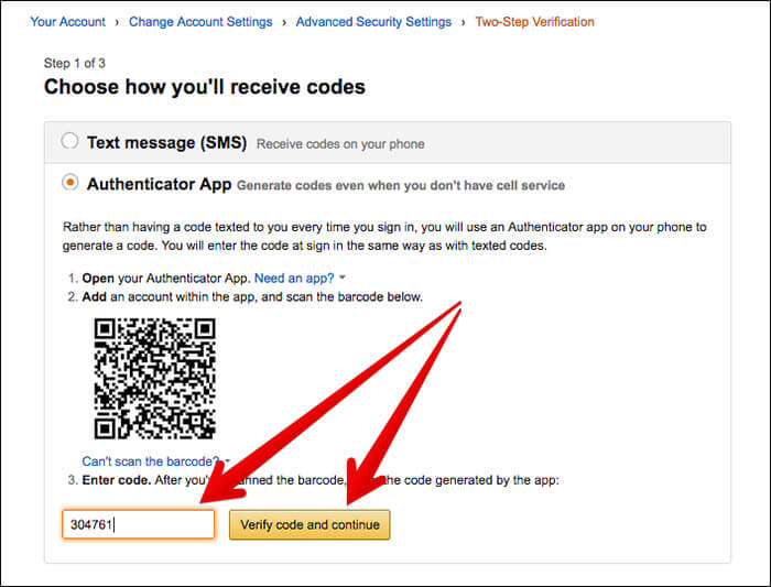 Set Up Two-Factor Verification for Amazon Using Authenticator App