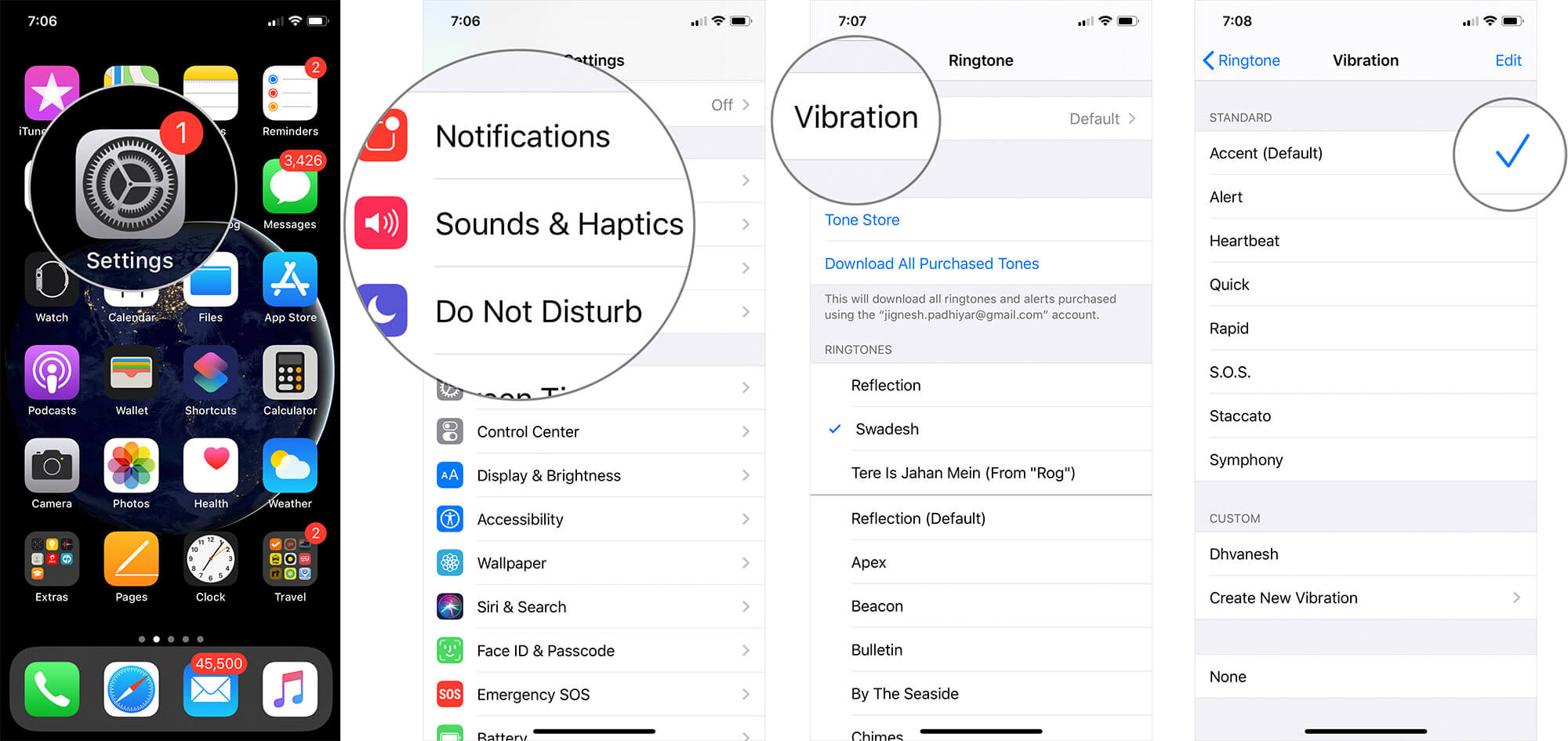 Set Vibration Pattern for Ringtone on iPhone