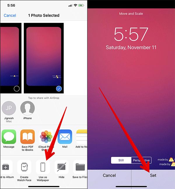 Set Wallpaper to Hide iPhone X Notch