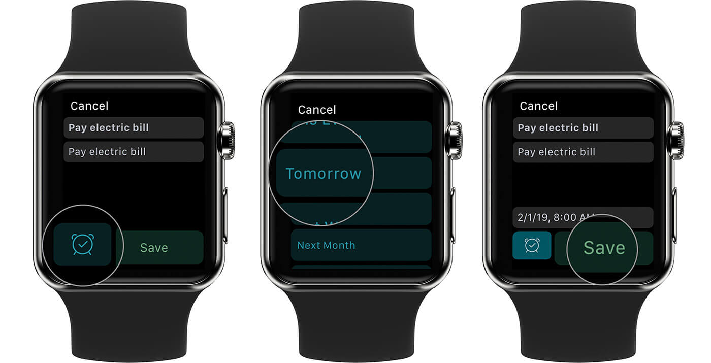 Set a Evernote Reminders On Apple Watch