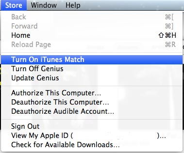 Setting up iTunes Match on Mac or PC