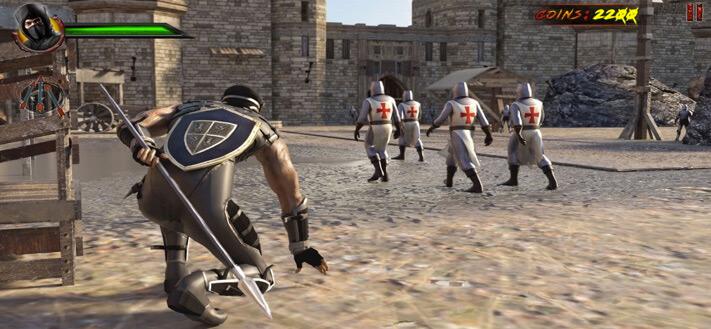 Shadow Ninja Assassin iPhone and iPad Game Screenshot