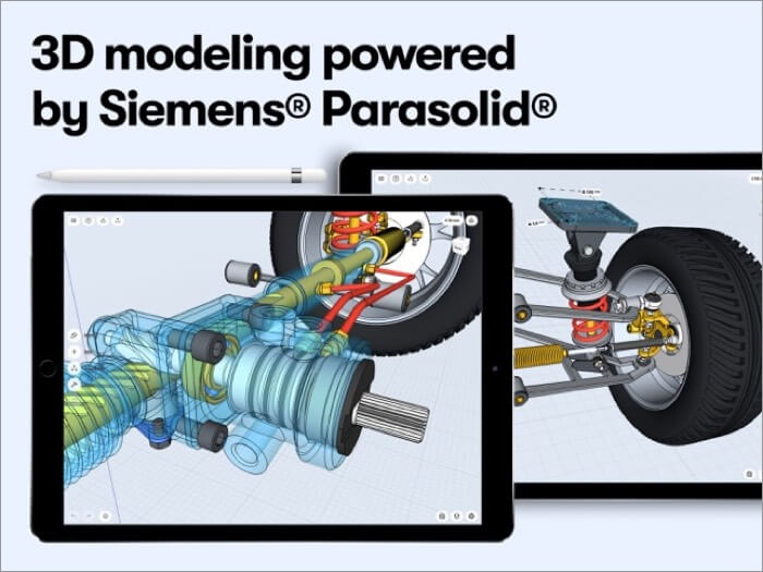 Shapr 3D CAD modeling AR iPad App Screenshot