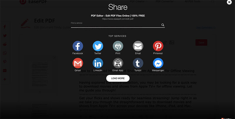Share Files on Social Networks with EasePDF