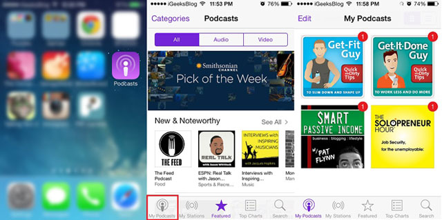 Share Podcasts on iOS