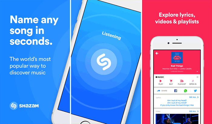Shazam Music iPhone App Screenshot