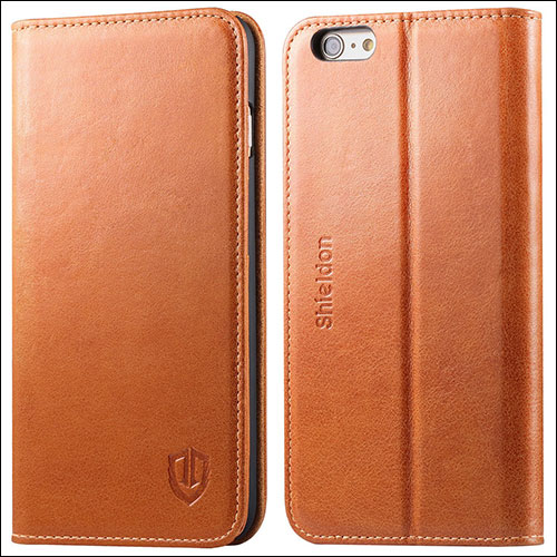 Shieldon Leather Wallet Case for iPhone 6s