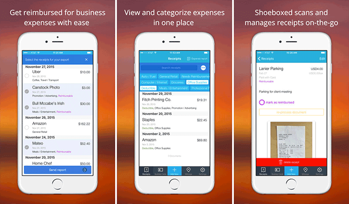 Shoeboxed Receipt Manager iPhone and iPad App Screenshot