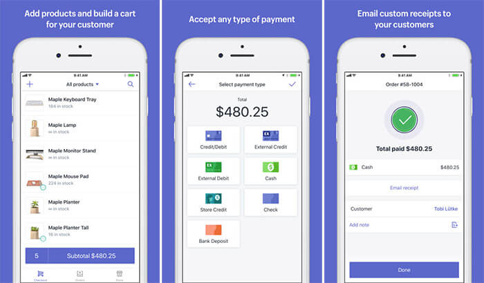 Shopify iPhone and iPad POS App Screenshot