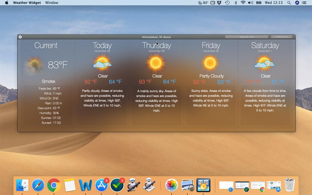 Show Weather Forecast on Mac Desktop