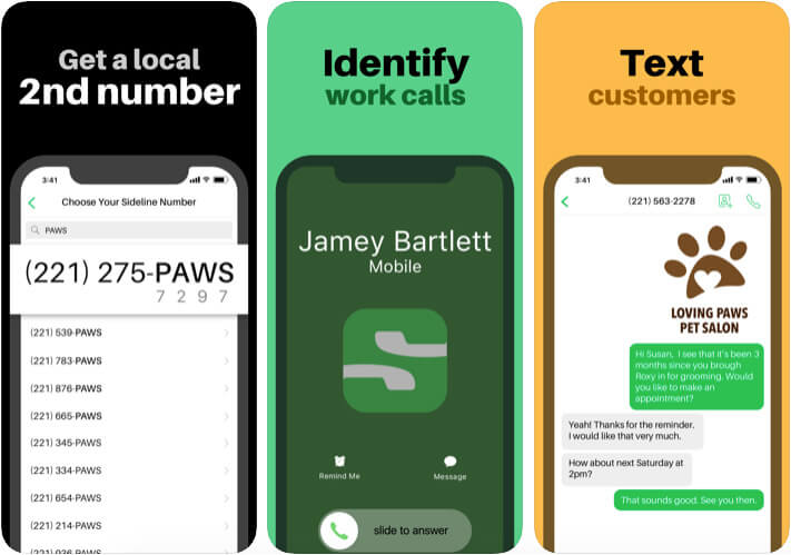 Sideline Second Phone Number iPhone App Screenshot